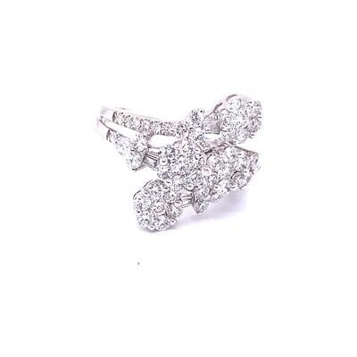 Ladies White Gold Cluster Diamond Ring
