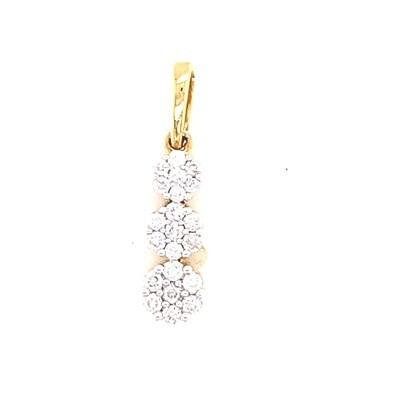 Ladies Yellow Gold Diamond Pendant