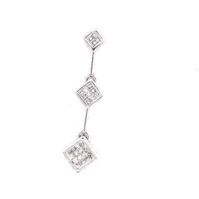 Ladies White Gold Diamond Pendant