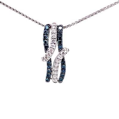 Blue Diamond Pendant & Ring Set