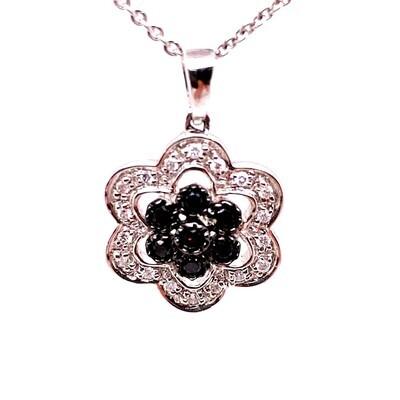 Black Diamond Pendant & Ring Set