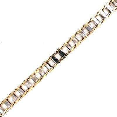 14K Men's Two Tone Gold Bracelet