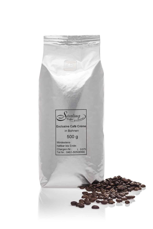 Sterling Coffee Exclusive Café Crème, ganze Bohne, 500g