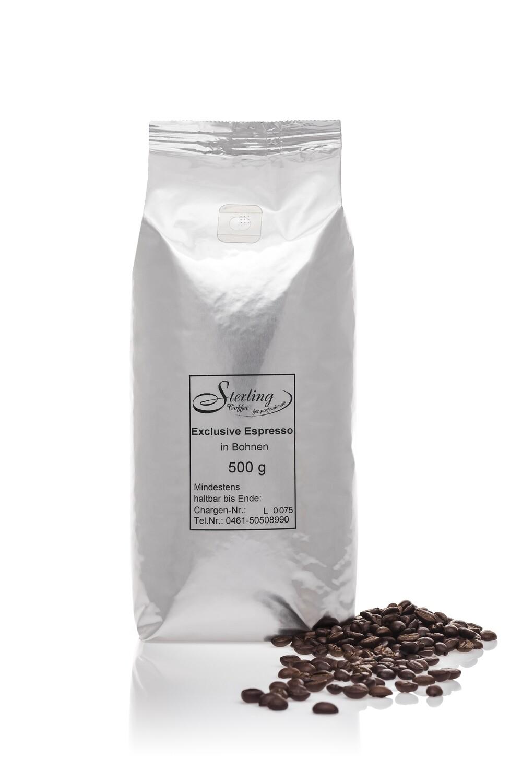 Sterling Coffee Exclusive Espresso, ganze Bohne, 500g