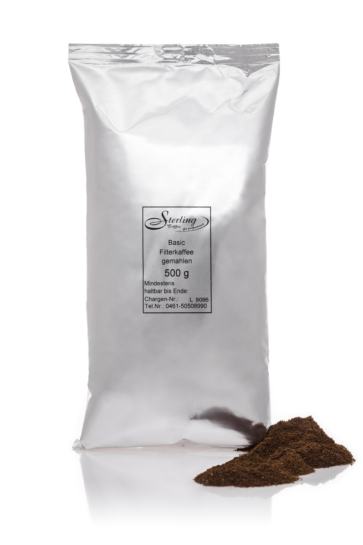 Sterling Coffee Basic Filterkaffee, gemahlen, 500g