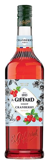 GIFFARD Sirup Cranberry, 1.000ml