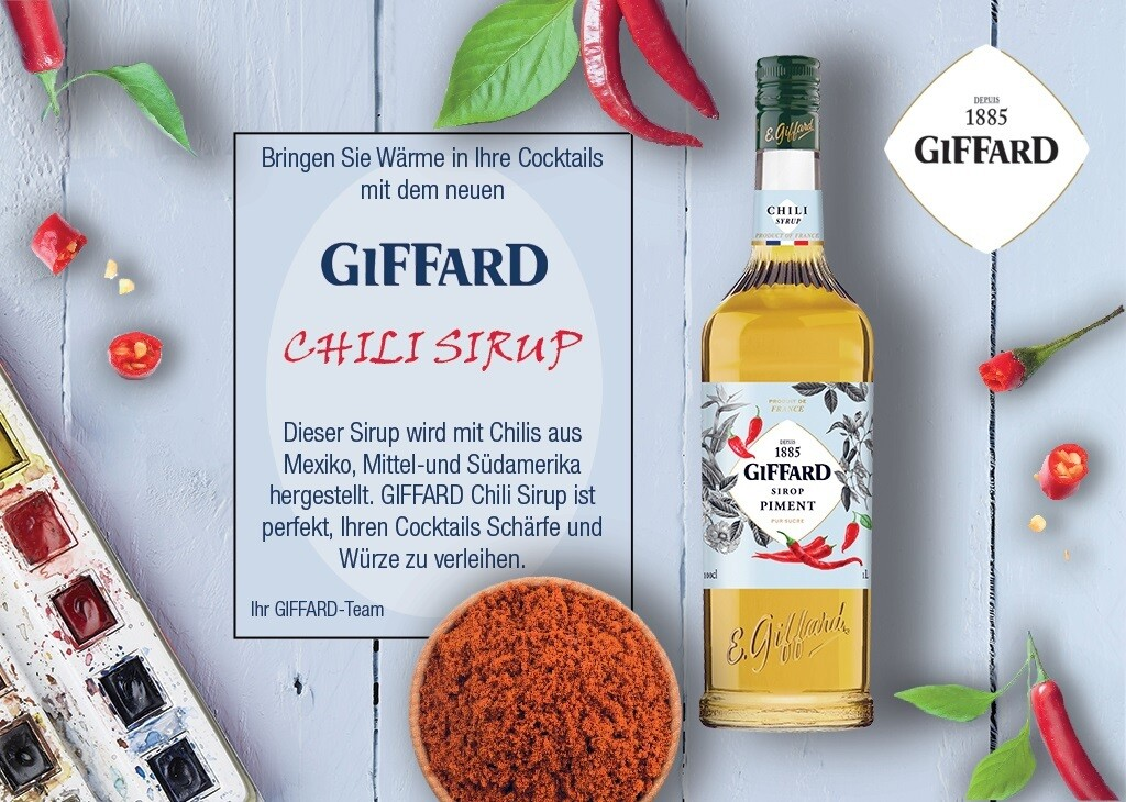 GIFFARD Chili Sirup, 1.000ml