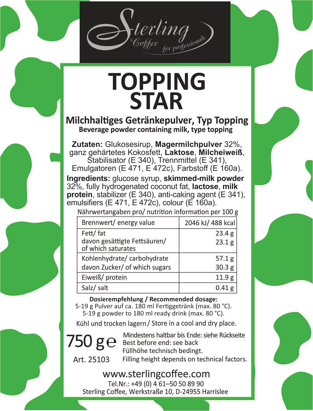 Sterling Topping STAR, 750g