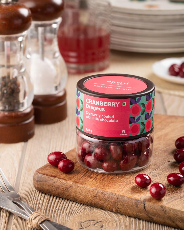 Cranberry Dragees Jar