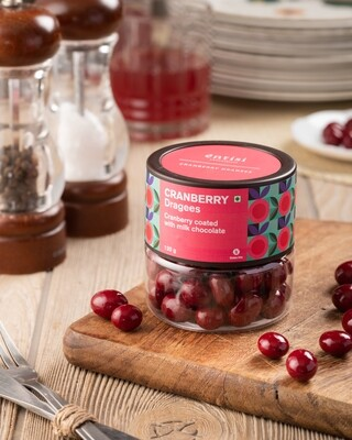 Cranberry Dragees Jar