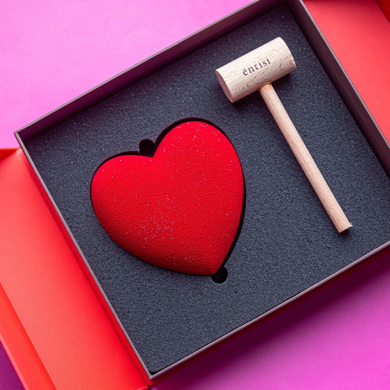 Chocolate Heart & Hammer Box