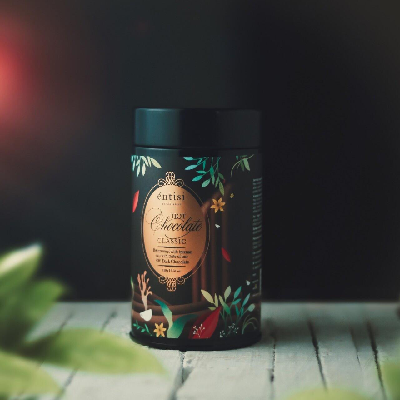 70% Dark Bittersweet Hot Chocolate Tin