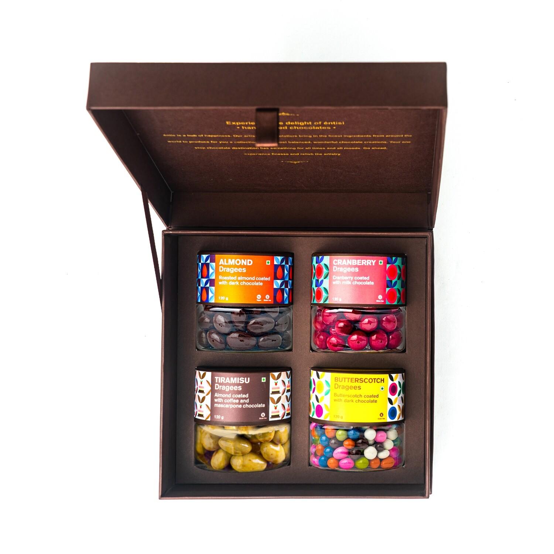 Box of 4 Dragees Jars