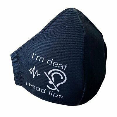"""I am Deaf"" Washable 3 Ply Face Mask"