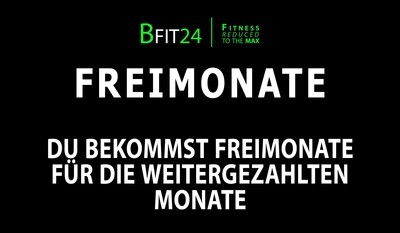 BFit24 Freimonate