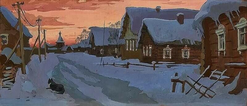 Деревня Гарь. Архангельская область