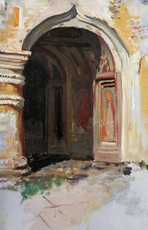 Святые ворота церкви Ионна Лествичника Кирилло-Белозерского монастыря