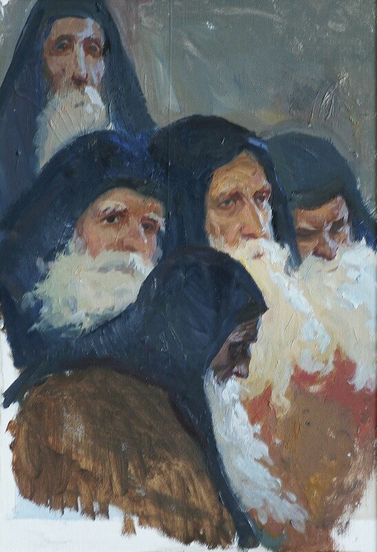 Иноки Соловецкого монастыря. XVII век.