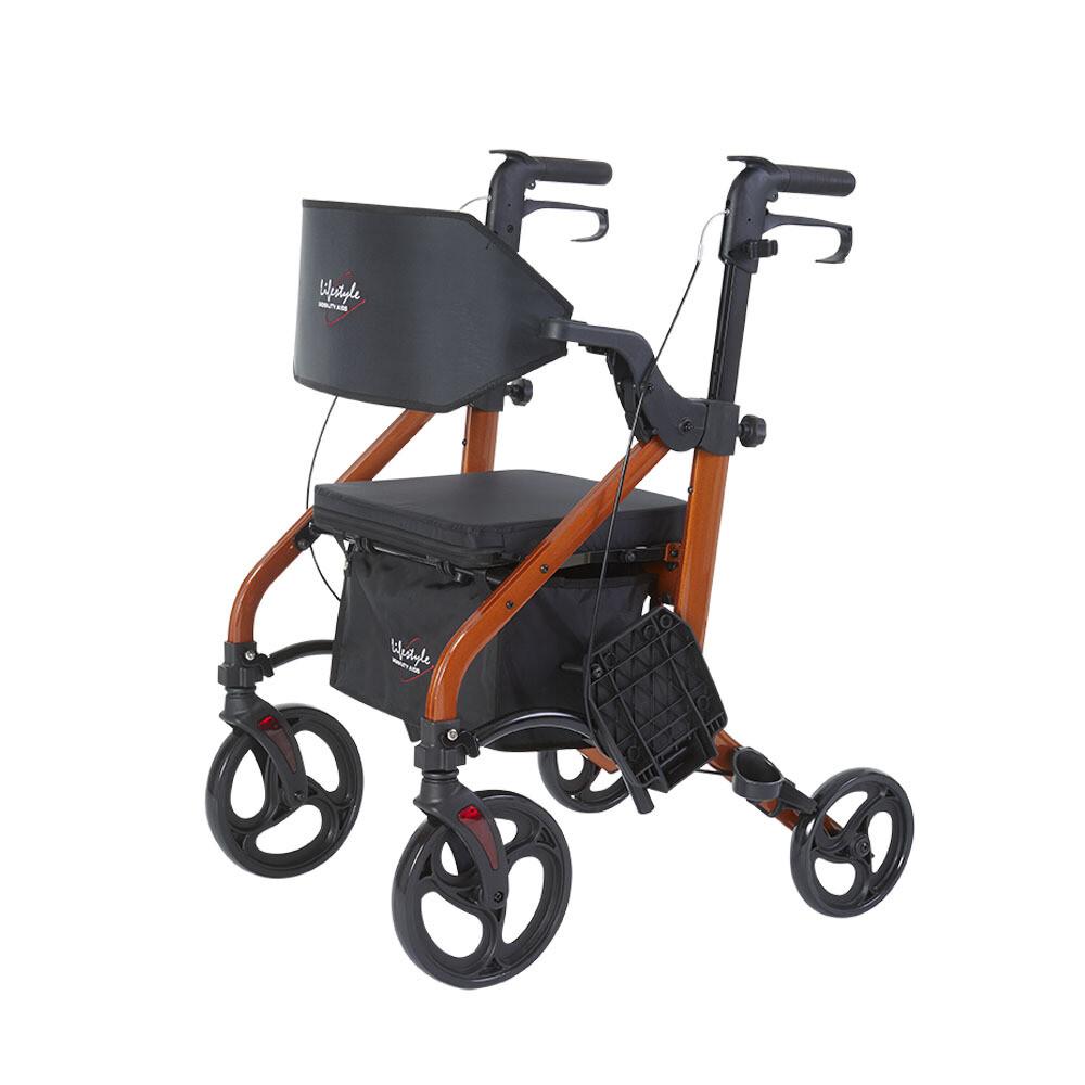 Deluxe Translator Rollator / Transport Chair