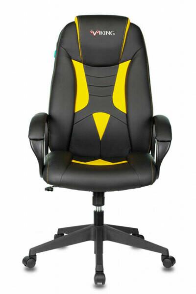 Кресло игровое Бюрократ VIKING-8N/BL-YELL
