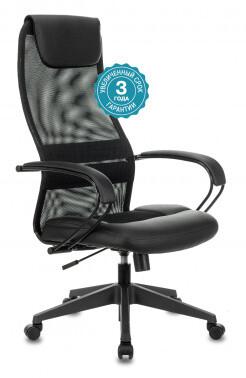 Кресло руководителя Бюрократ CH-608 спинка сетка черный