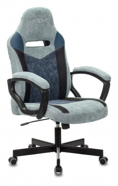 Кресло игровое Бюрократ VIKING 6 KNIGHT синий/черный