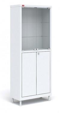 Металлический медицинский шкаф для хранения медикаментов М2С