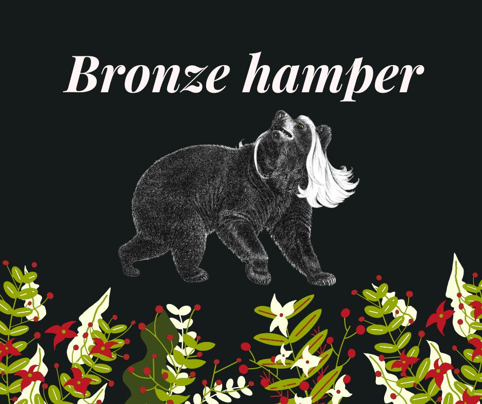 Bronze Bear hamper