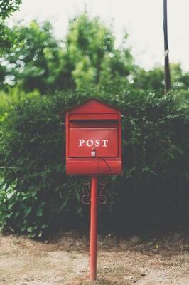 Christmas postal box