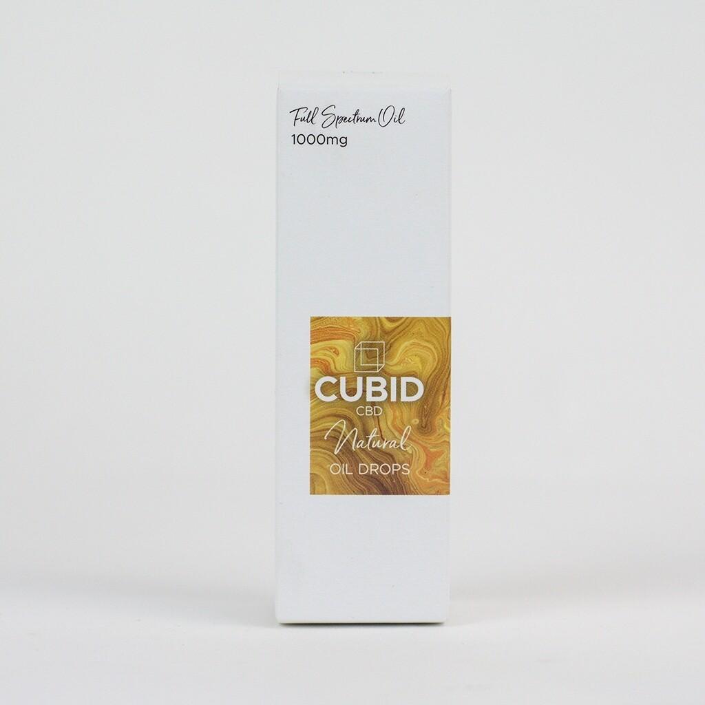 CUBID Cbd Oral Oil Drops 1000mg Natural 30ml