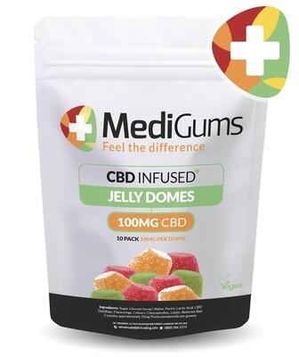 Medigums Cbd gum domes 100mg (10 pcs 10mg per gum)