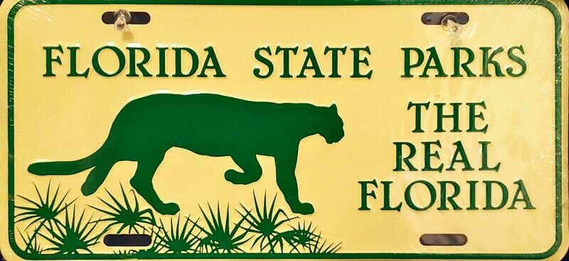 Florida State Parks Front Aluminum License Plate
