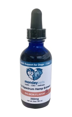 2oz  CBD Pet Hemp Extract / 250mg Salmon Flavor