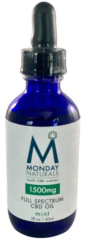 1500mg CBD OIL / 2oz / Mint