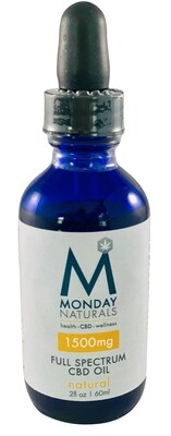 1500mg CBD OIL / 2oz / Natural