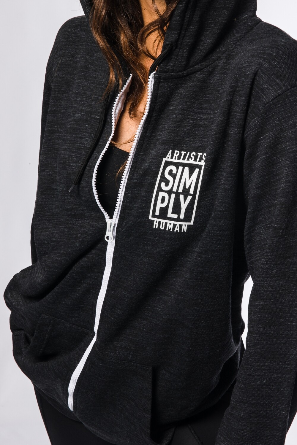 Dark Grey Zip-Up