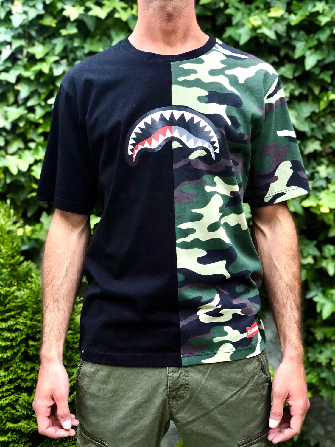 T-shirt Sprayground Teeth Half Camo