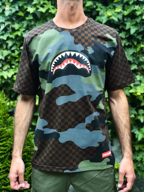 T-shirt Sprayground Check Camo