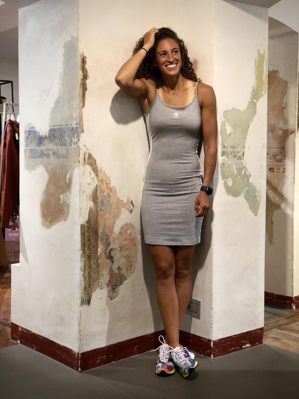 Tank dress spalline grigio