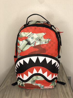 Zaino Sprayground Shark Panic Attack red