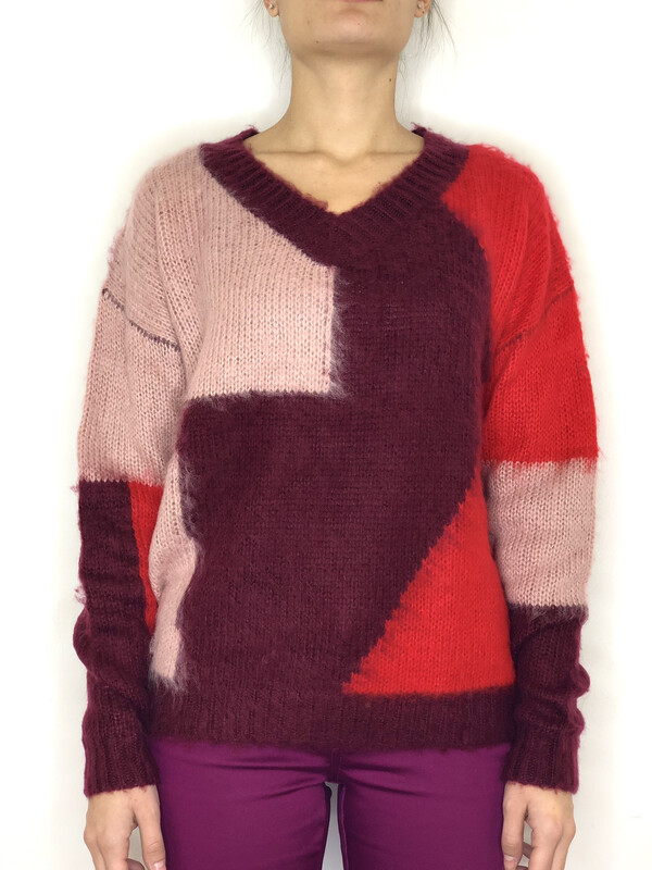 Maglia V color block Molly Bracken