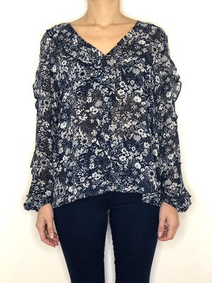 Top floreale voiles rouches Molly