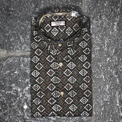 Camicia stampa geometrica