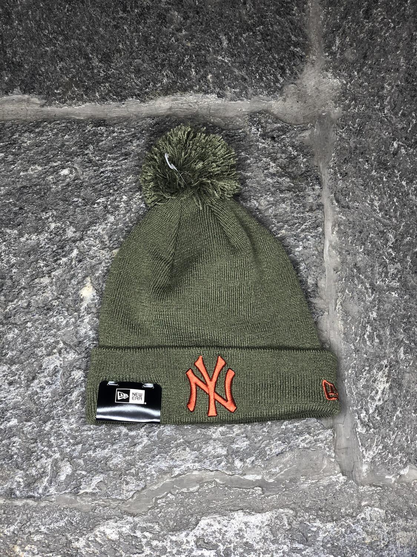 New York Yankees bubble beanie NEW ERA verde arancio