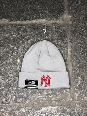 New York Yankees beanie NEW ERA grigio rosso