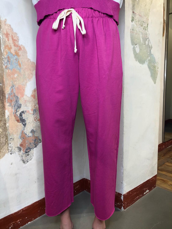Pantalone felpa palazzo