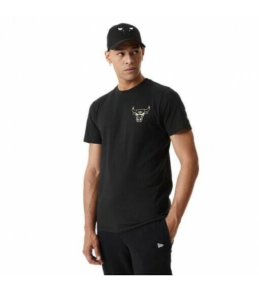T-shirt nera golden Bulls New Era