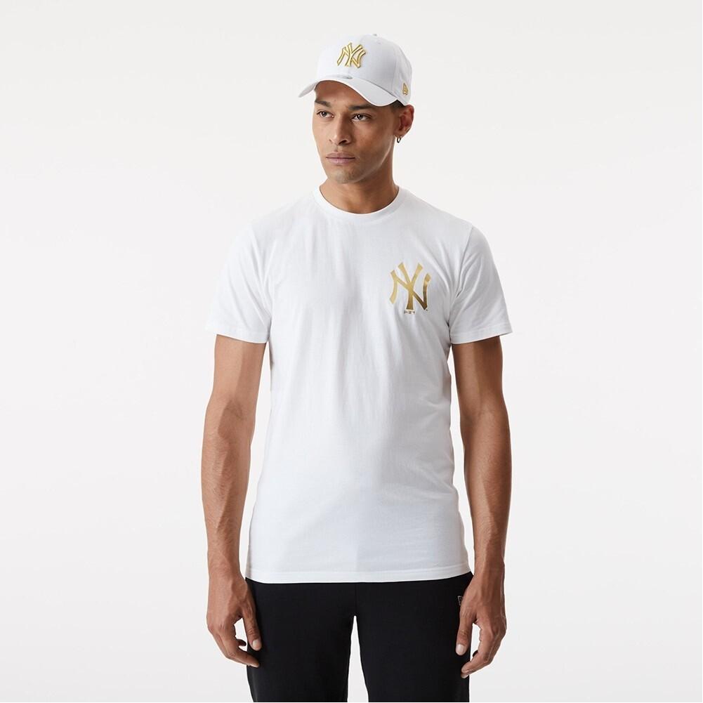 T-shirt bianca golden NY New Era