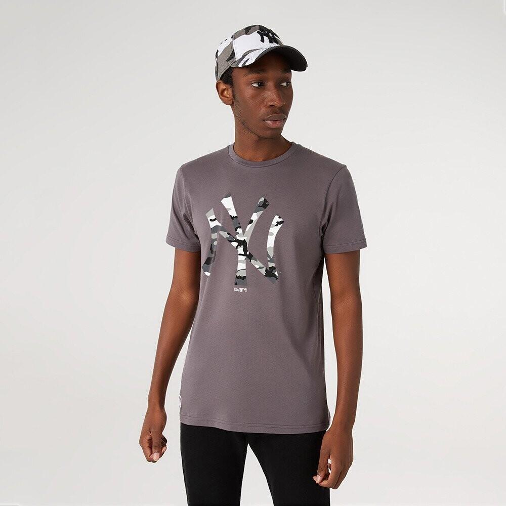 T-shirt camo grey NY New Era