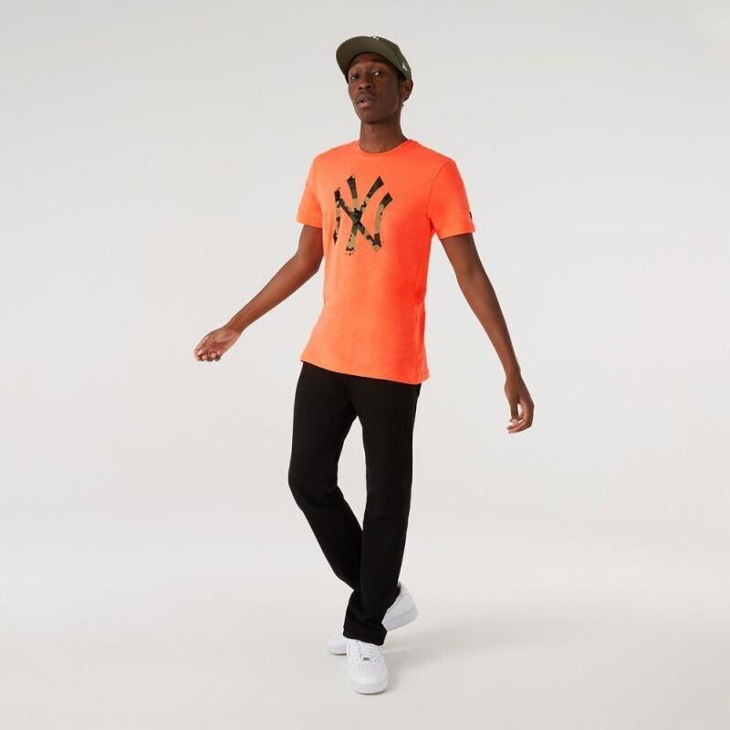 T-shirt camo orange NY New Era